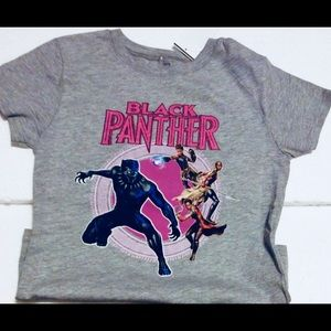 Girls Marvel Black Panther Tee Shirt Short Sleeve